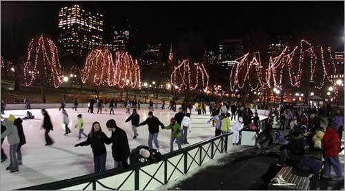 Skating on Frog Pond, Boston Common