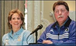 Jean Driscoll and Bob Hall