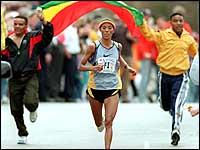 Fatuma Roba run to victory