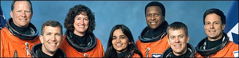 The crew of the space shuttle Columbia